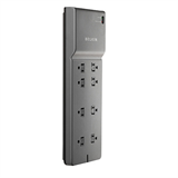 8 Outlet Home/Office Surge Protector with telephone protection P-BE108200-06