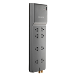 8-Outlet Home/Office Surge Protector w/Telephone Line + Extended Cord P-BE108230-12