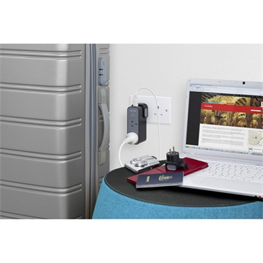 Travel Surge Protector - 2 Outlets with 5 Interchangeable Plugs -$ HeroImage