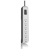 6-outlet Surge Protector with 8ft Power Cord and 360° Swivel Plug P-BV106000-08