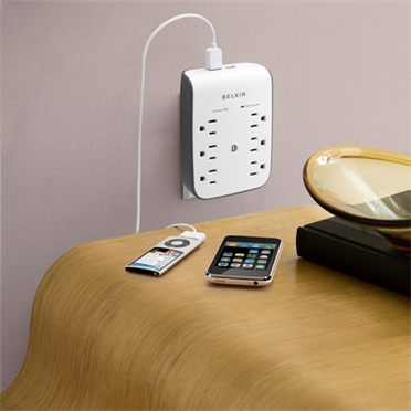 USB Charging 6-outlet Surge Protector -$ HeroImage