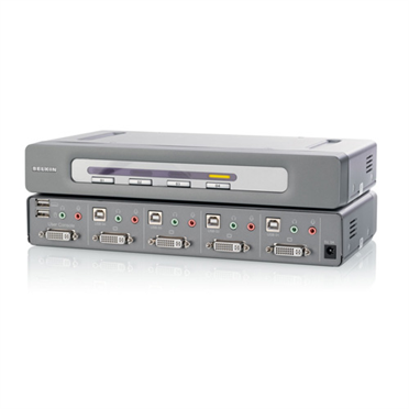 OmniView® Secure DVI-D Dual-Link 4-Port KVM Switch -$ HeroImage