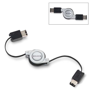 Retractable 6-Pin to 6-Pin FireWire Cable -$ HeroImage