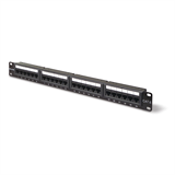 CAT6 24-Port Patch Panel; Black; 1U P-F4P638-24-AB5