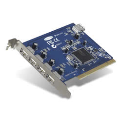 Hi-Speed USB 2.0 5-Port PCI Card -$ HeroImage