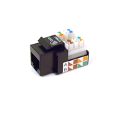 Black Category 5 RJ45 Jack P-R6D022-AB5