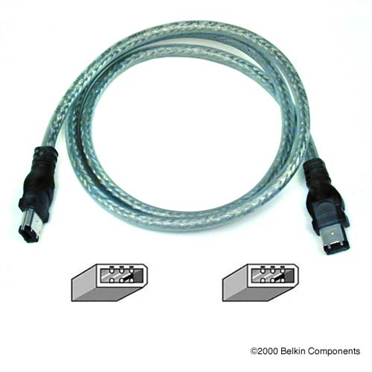 6-Pin to 6-Pin FireWire Cable P-F3N400
