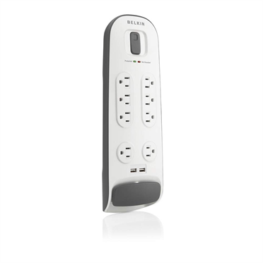8 Outlet Surge Protector with 2.1A USB  Charging -$ HeroImage