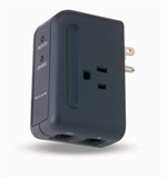 Travel Surge Protector with Hidden Swivel Plug P-F9H220-TVL