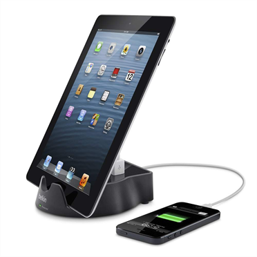 Power Tablet Stand with 2.1A USB Charging -$ HeroImage