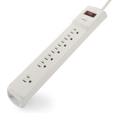 7-Outlet Surge Protector with 6-foot Power Cord -$ HeroImage