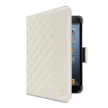 Quilted Cover with Stand for iPad mini -$ SideView1Image