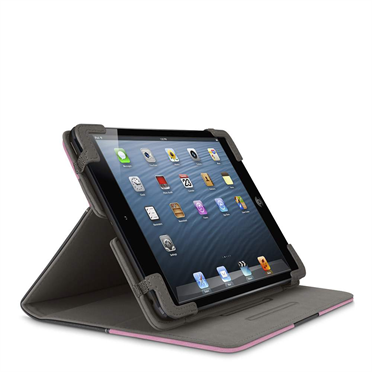 Chambray Tab Cover with Stand for iPad mini -$ SideView1Image